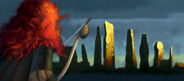 A set of 3 concept art pieces show the rugged and mysterious Scottish Highland backdrops.