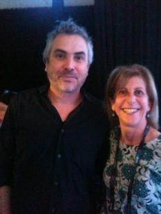 Alfonso Cuarón with Debra Kaufman at Dream Vision Studios
