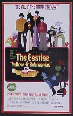 Yellow Submarine movie poster. © 1968