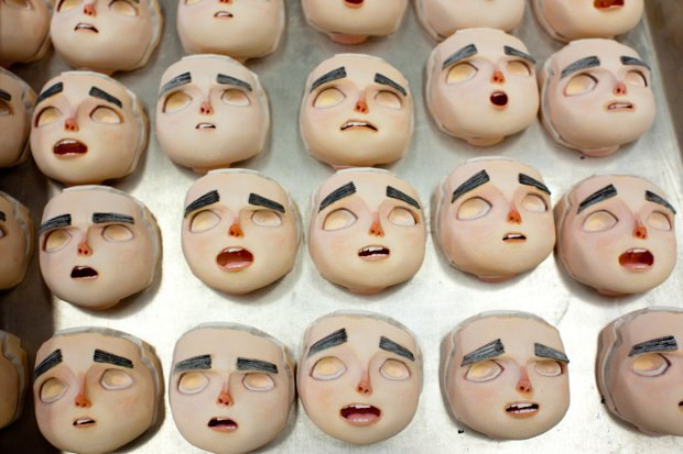 Once printed at LAIKA Studios, there are thousands of faces for animators to choose from.
