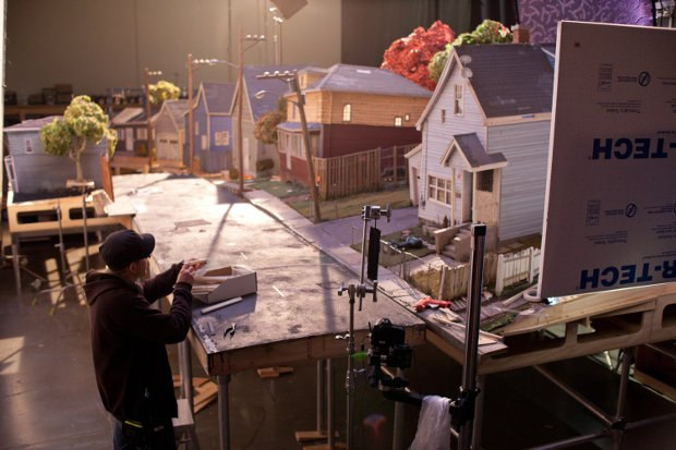 The working set of Norman's neighborhood in the town of Blithe Hollow.