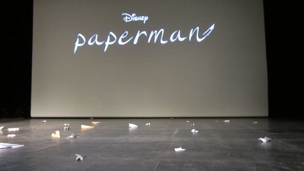 A fitting tribute – a film about paper airplanes screened amidst a stage filled with paper airplanes. This is probably the first time Annecy's odd infatuation with tossing paper airplanes onstage at screenings seemed aptly apropos.