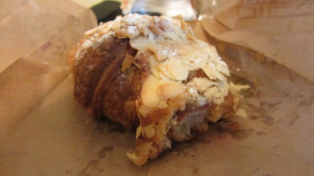 The most delicious pastry I've ever eaten. Slivered almonds, flaky dough, some warm apple infused glaze inside. Perfect.