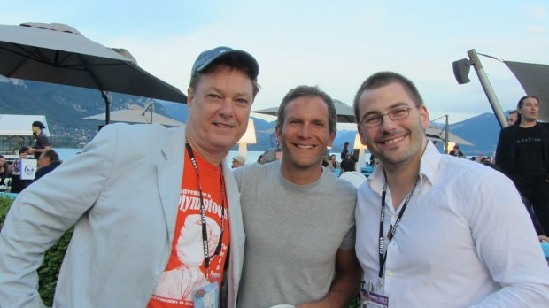 (From left to right) Indie legend Bill Plympton, animator, teacher and big wave surfing champion Pat Smith and Alexander Gellner, whose film One Minute Puberty was in competition.