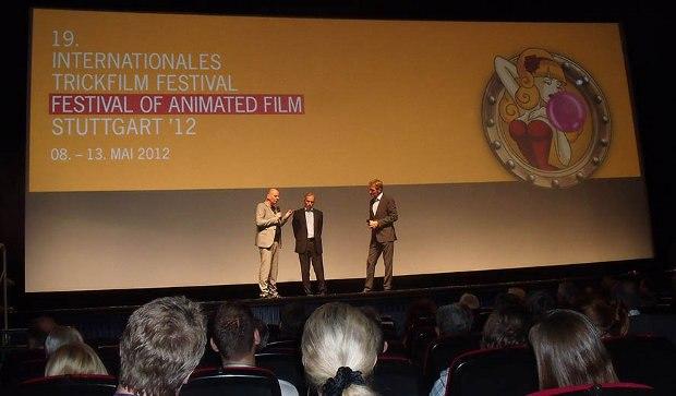 Festival Directors Dittmar Lumpp and Ulrich Wegenast with Festival M.C. Markus Brock