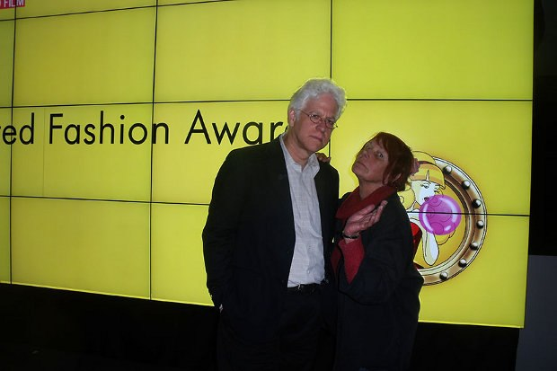 Ron Diamond, Animation Fashion Awards juror, with Nancy