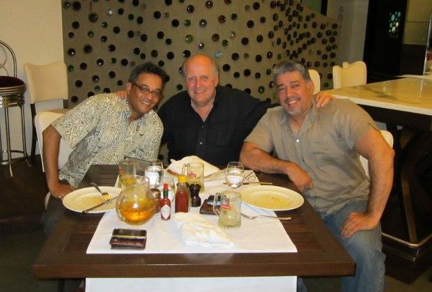 Suhael Merchant and Shrirang Sattaye (with Bill), co-directors on Disney's feature film, Roadside Romeo.