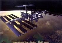 NASA Simulation of the International Space Station. © 1998 NASA.