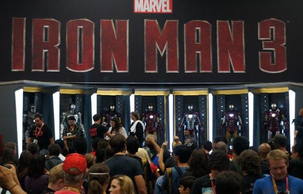 Iron Man 3 suit designs.