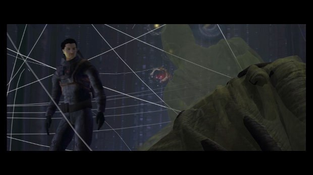 Previs image from sequence where David explores the Engineer.