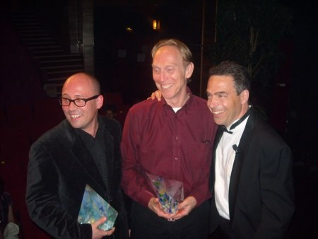 Serge with winners Adam Elliot (Mary and Max) and Henry Selick (Coraline),