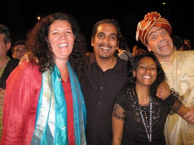 Laura Dohrmann, Prashant Buyyala, his wife Vani and Serge, closing ceremonites, 2009.