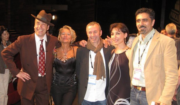 Serge, alongside Tiziana and others at the closing ceremonies, 2011.