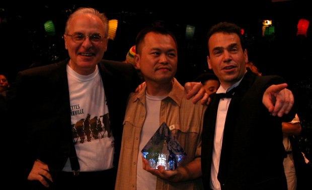 Giannalberto Bendazzi, Koji Yamamura and Serge, closing ceremonites, 2003.