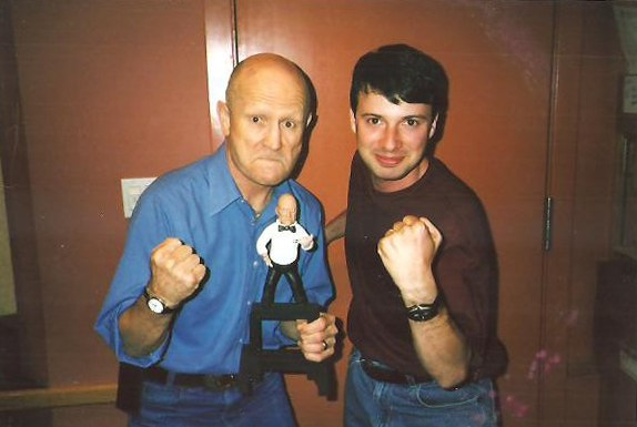Eric Fogel and iconic boxing referee Mills Lane.