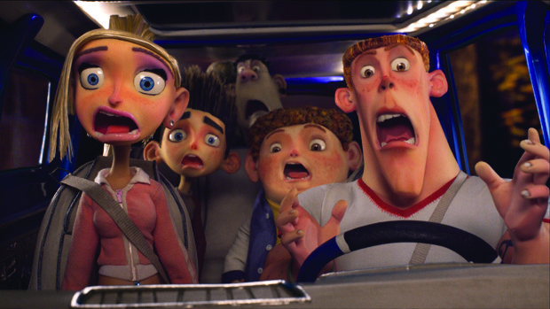(l to r.) Courtney (voiced by Anna Kendrick), Norman (voiced by Kodi Smit-McPhee), Alvin (voiced by Christopher Mintz-Plasse), Neil (voiced by Tucker Albrizzi), and Mitch (voiced by Casey Affleck) hit the road - and something else.