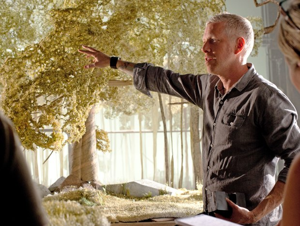 Production Designer Nelson Lowry discusses one of the sets.