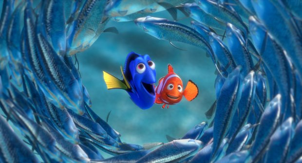 (L-R) Dory and Marlin.