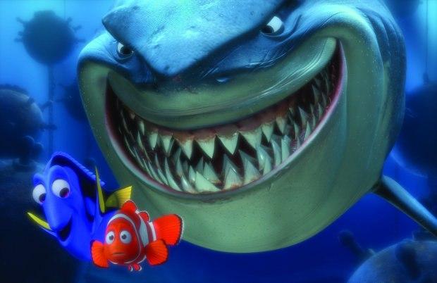 (L-R) Dory, Marlin and Bruce the Shark.