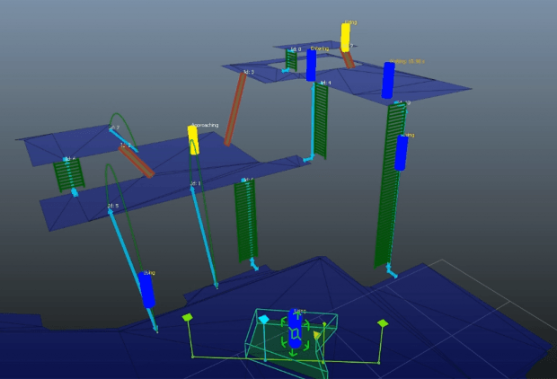 Gameware Navigation allows AI characters to adapt to highly complex level designs through special NavMesh linking techniques.