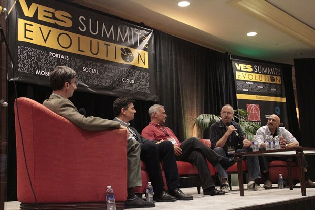 "Bill Desowitz moderated a panel ""Is Television VFX the Future of Feature Film VFX?"""