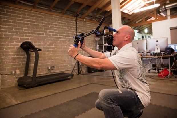 HALON Partner and Sr. Previsualization/VFX/CG Supervisor Bradley Alexander in HALON Entertainment's studio.
