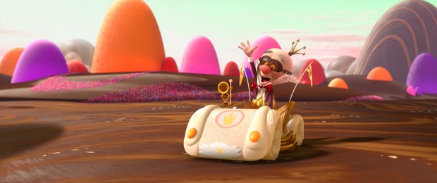 KING CANDY in the video game world of Sugar Rush.