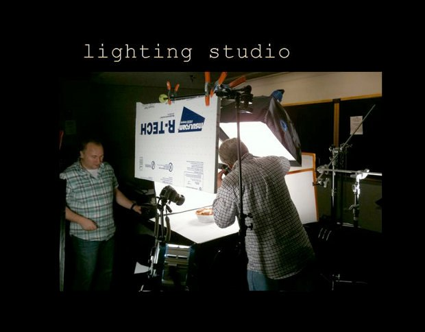 The lighting and effects teams setup a photo lab right in the studio.