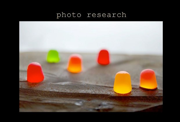 What would chocolate mountains look like with self-illuminated gumdrops?