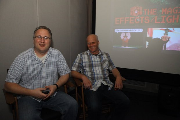Director of look and lighting Adolph Lusinsky and associate director of look and lighting Brian Leach
