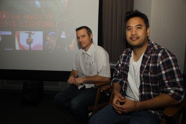 Effects supervisor David Hutchins and effects supervisor Cesar Velazquez