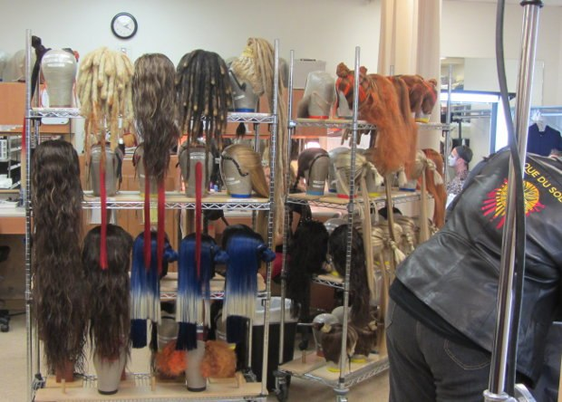 Some of the wigs used in KÀ.
