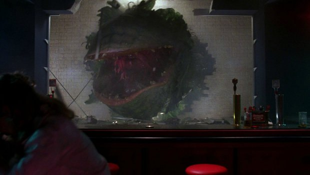 An Audrey II offshoot goes clubbing. Except where otherwise noted, all images © 2012 Warner Bros. Entertainment Inc. Image captures part of a larger set provided by Imgur.