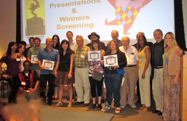 Award winners and organizers of the 2012 AniMazSpot Festival.