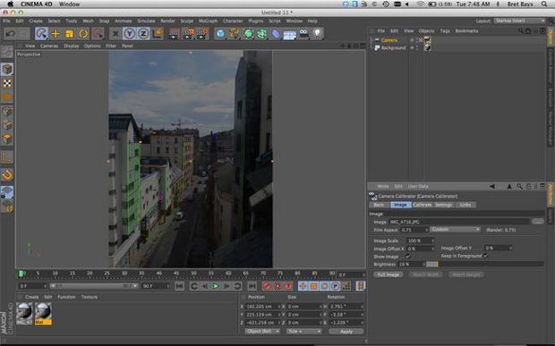 Using lines and grids to help calibrate your camera to the image.