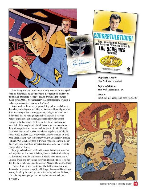 Above, Star Trek presentation art, below, Star Trek storyboard.