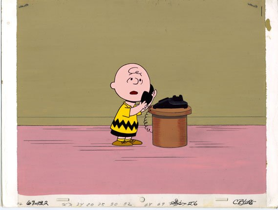 Production cels from He's Your Dog, Charlie Brown, 1968.