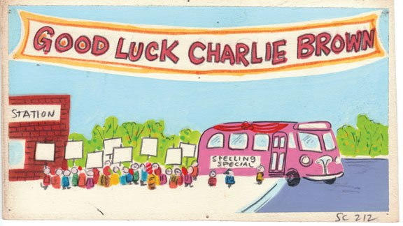 From A Boy Named Charlie Brown, 1969, Dan Spille, graphite, watercolor, gouache.
