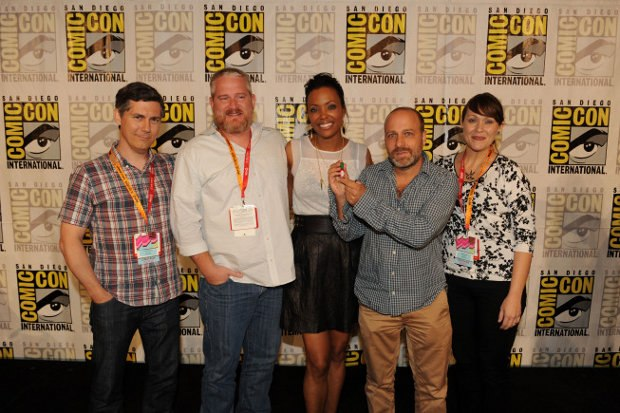 COMIC-CON INTERNATIONAL 2012 - San Diego, CA, July 12 - Archer Panel - L- R: Chris Parnell, Adam Reed, Aisha Tyler, H. Jon Benjamin, Amber Nash. Photo: Frank Micelotta/FX.