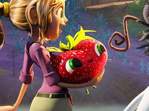 Barry -- a friendly, walking, gibberish-talking strawberry
