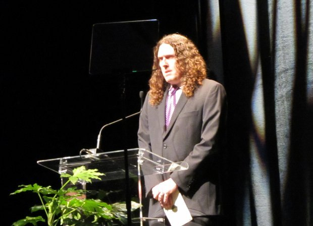 2012 awards presenter Weird Al Yankovic admonishes ASIFA for the lack of accordion music in animated shows.