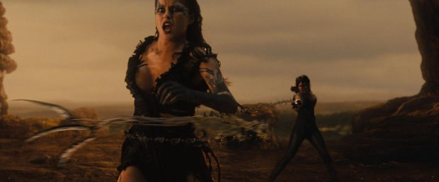 Gretel battles a witch. Sequence photo credit: Hammerhead VFX / Paramount Pictures.