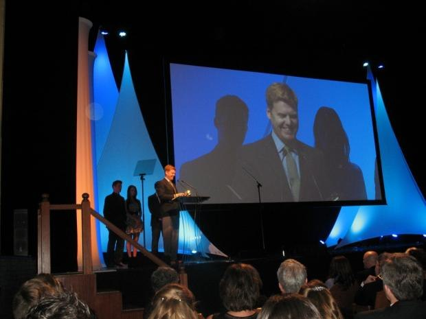 Paperman director John Kahrs accepting best animation short Annie Award, Feb 2, 2013
