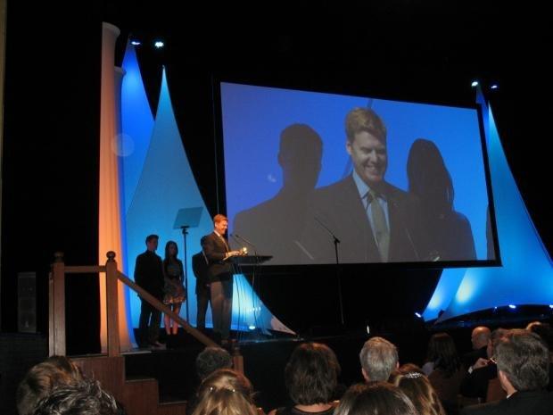 Paperman director John Kahrs accepting best animation short Annie Award, Feb 2, 2013