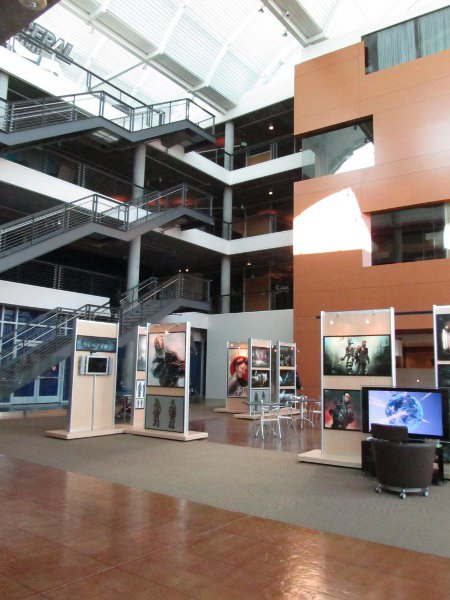 The first tour stop was at Electronic Arts