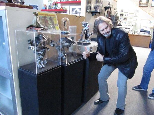 """David gives a display of models the """"thumbs up."""""""
