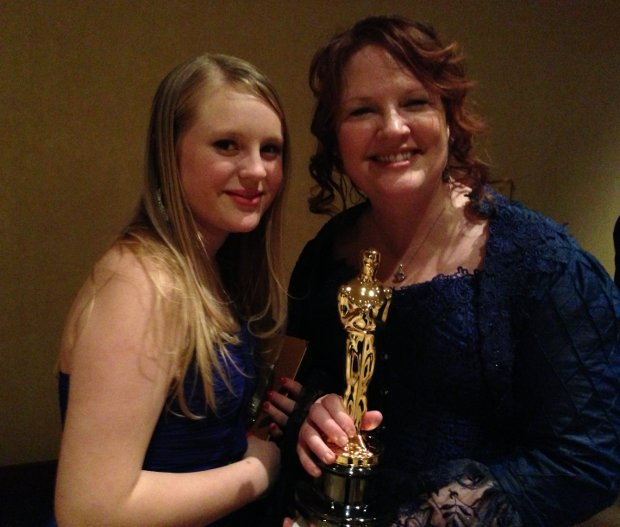 Brenda Chapman and daughter Emma. Image courtesy of Ron Diamond.