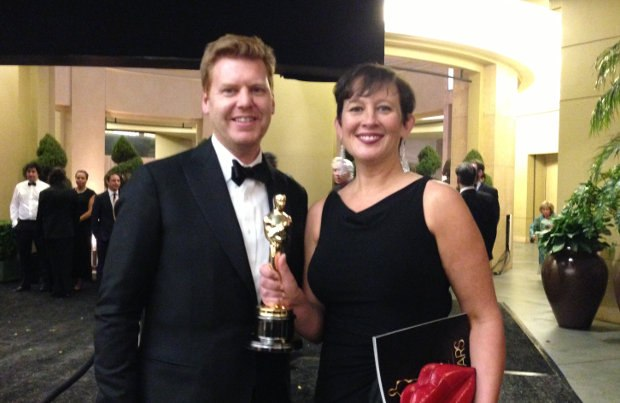 John Kahrs and Paperman producer Kristina Reed. Image courtesy of Ron Diamond.
