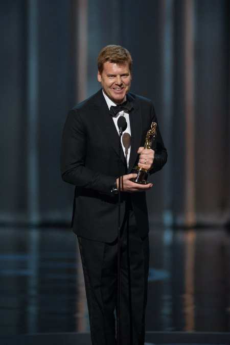 John Kahrs accepts the Oscar® for best animated short film for Paperman.