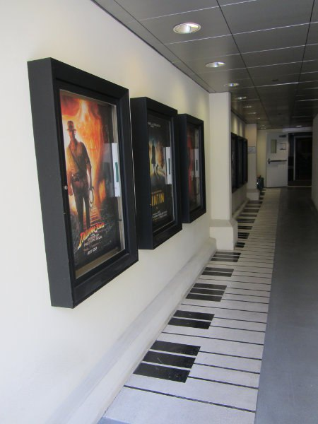 The hallway leading into the Barbara Streisand Recording Stage, a favorite